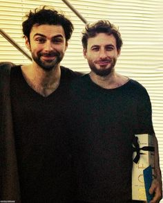 Aidan and Dean :) Awww... they actually could pass as brothers looking like this... all raggedy. ^.^ <3 them as Kili and Fili!