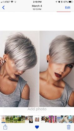 Hair Cutting Style pixie cut styles for black hair Short Pixie Haircuts, Pixie Hairstyles, Short Hairstyles For Women, Short Hair Styles Easy, Short Hair Cuts For Women, Natural Hair Styles, Short Cuts, Grey Hair Men, Short Grey Hair