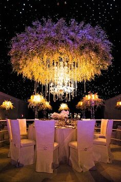 Suspended ceiling for a wedding..