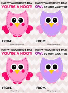 My Owl Barn: Printable Valentine Activity pack