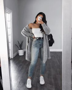 39 Basics Of Grunge Style And Modern Interpretation 35 39 Basics . - 39 Basics Of Grunge Style And Mod Casual Winter Outfits, Winter Fashion Outfits, Simple Outfits, Look Fashion, Stylish Outfits, Spring Outfits, Casual Summer, Casual Fall, Classy Outfits