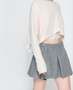 bias knits cropped sweater