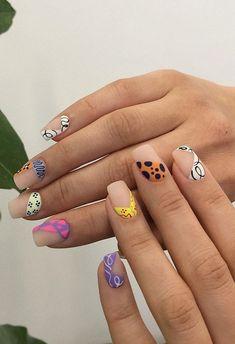 Crazy Nail Designs, Gel Nail Art Designs, Crazy Nail Art, Crazy Nails, Really Cute Nails, Pretty Nails, Judy Nails, Birthday Nail Art, Cute Gel Nails