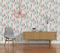 AS Creation Wood Panel Pattern Wallpaper Kitchen Bathroom Tribal Motif 330891 Kitchen Wallpaper, Modern Wallpaper, Perfect Wallpaper, Designer Wallpaper, Wallpaper S, Pattern Wallpaper, Blue Wallpapers, Retro Chic, Wood Paneling