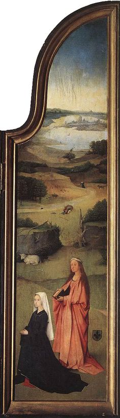 HIERONYMUS BOSCH (1450 - 1516) | The Epiphany - The Adoration of the Magi (right panel). Prado Museum.