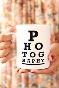 Photography Eye Chart Mug