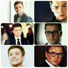 Taron egerton as eggsy unwin in kingsman: the secret service. The bottoms right picture