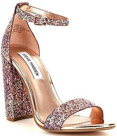 2aec85f15bc31d Steve Madden Carrson Glitter Block Heel Dress Sandals Prom Heels