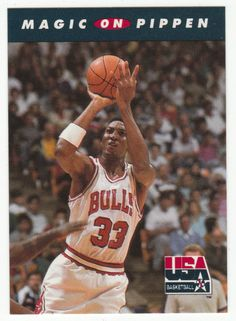 Magic Johnson on Scottie Pippen # 108 - 1992 Skybox USA Team Basketball