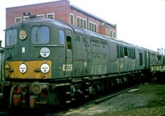https://flic.kr/p/sdoMuc | D16/2 locomotives 10202 and 10203 | Bulleid Class D16/2 diesel electric locomotives 10203 and 10202 awaiting scrapping, Derby works, 26 August 1967. Copyright Professor S B.
