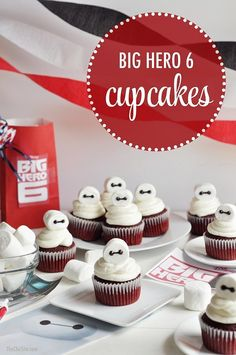 Baymax Cupcakes Are the Perfect Way to Celebrate the Release of Big Hero 6