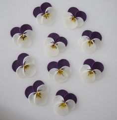 felt pansies made with circles