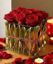 flowers in cube vases - Google Search