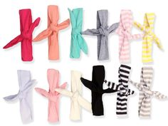 Cotton Tie Headbands ~ comfortable and adjustable for babies and kids. get yours at www.pinkcottonllc.com