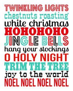 Christmas free printable fun colors
