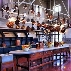The Breakers ~ Newport, Rhode Island. This kitchen is shown in the original film The Great Gatsby.
