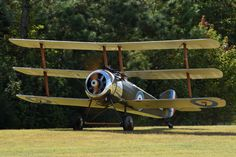 Built in 1991 by Charles Wille, this replica Triplane is powered by a Lycoming 0-435 hidden behind a fake rotary covering.  It was bought at auction by the Military Aviation Museum in 2017. Bi...