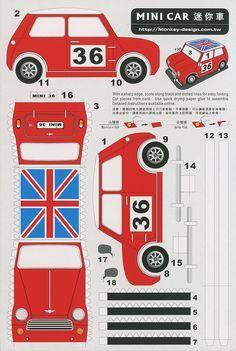 Mini Car - Cut Out Postcard | Flickr: Intercambio de fotos