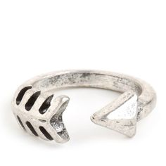 BaubleBar Silver Arrow Ring ($24) ❤ liked on Polyvore