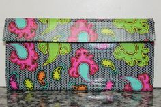 Duct Tape Wallet (Clutch) - Paisley, $18. We are also on Etsy at: www.junorduck.ets....