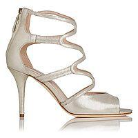 Lucia Gold Suede High Heel Sandals