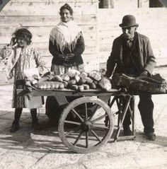 Bread vendors of Naples, Italy by William Herman Rau, 1904