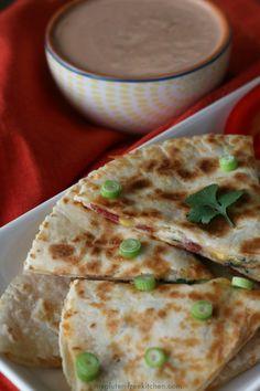 Gluten-free Bacon Ranch Quesadillas. Easy weeknight dinner recipe or gluten-free appetizer!