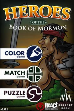 "Heroes of the Book of Mormon. iTunes app. Also available for Android.   An electronic ""quiet book""?"