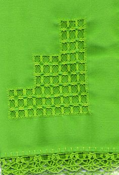 Deshil-ada: Deshilado verde limón 12x12