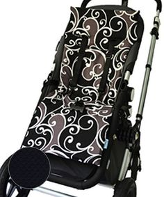 Love this Black & Filigree Reversible Memory Foam Stroller Liner by Tivoli Couture on #zulily! #zulilyfinds