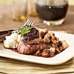 Filet Mignon with Cabernet Sauce plus 39 other recipes.  I aim to try them all. ;)