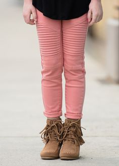 Little GIrls Jeans, Pants, Pink moto Jeggings, Online Shopping, Online Boutique, Ryleigh Rue Clothing, Moto Jeans, Fashion