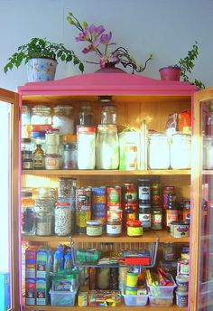 A pantry as a work of art.