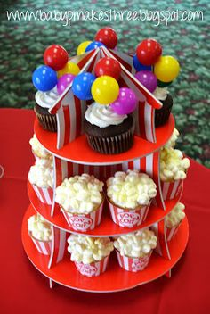 Circus baby shower cupcakes#Repin By:Pinterest++ for iPad#