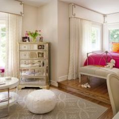 Nice to include a sitting area in kids' bedrooms for friends
