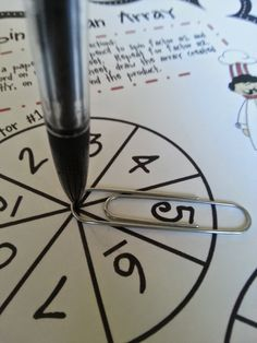 Super easy spinner for classroom use!  Don't waste time making these ever again! Motor Activities, Activities For Kids, Activity Ideas, Math Classroom, Classroom Organization, Fun Math, Math Games, 3rd Grade Math, Fourth Grade