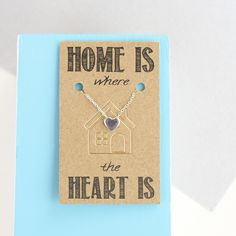 Home is Where the Heart Is Sterling Silver Necklace #ellieellie #heartnecklace #sterlingsilver