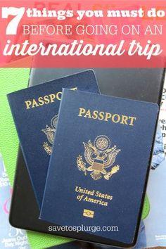 international trip checklist, things to do before international travel, vacation checklist, things to do before vacation