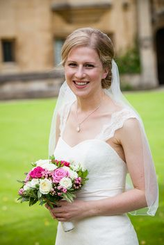 Pink and White Flowers for a Magdalen College and Rhodes House Wedding