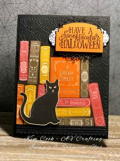 card Made with the new Monster Bash Suite and a black cat from last years Halloween DSP.Made with the new Monster Bash Suite and a black cat from last years Halloween DSP. Halloween Projects, Halloween Cards, Holidays Halloween, Halloween Ideas, Fall Cards, Holiday Cards, Holiday Ideas, Card Making Inspiration, Making Ideas