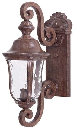 "View the The Great Outdoors GO 8990 1 Light 19.75"" Height Outdoor Wall Sconce in Vintage Rust from the Ardmore Collection at Build.com."