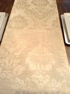 Shimmery Beige Damask Table Runner By DorethaRoseDesigns On Etsy