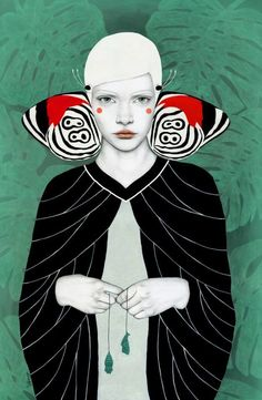 Butterfly girls, illustration by Sofia Bonati - Ego - AlterEgo Art Inspo, Kunst Inspo, Inspiration Art, Sofia Bonati, Art Du Collage, Frida Art, Art Graphique, Illustrations And Posters, Art Design