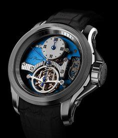 TimeZone : Industry News » N E W M o d e l - Cecil Purnell Regulator Tourbillon