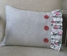 Free Sewing Pattern and Tutorial - Frilled Cushion