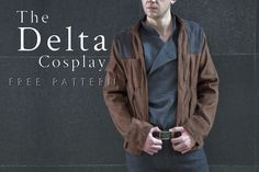 The Delta Cosplay - Free Sewing Pattern - Mood Sewciety Sewing Patterns Free, Free Sewing, Sewing Tutorials, Clothing Patterns, Free Pattern, Sewing Ideas, Sewing Projects, Han Solo Cosplay, Pleated Fabric