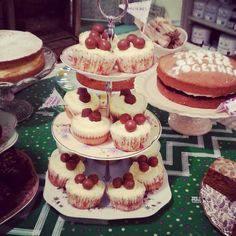 We still have lots of beautiful handmade cakes left and have takeaway bags if you want to take some home!