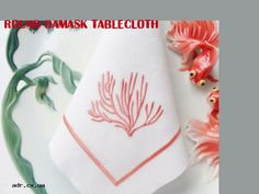 round damask tablecloth