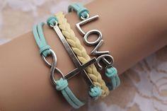 The love braceletthe cross braceletthe infinity by GoldenFuture