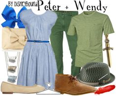 peter and wendy inspired outfits. never neverland. walt disney.